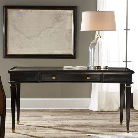 modern history ebonized classical writing table ships