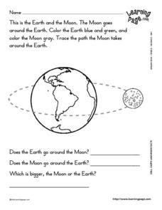 all about the sun worksheets earth and moon facts worksheet for 2nd 3rd grade lesson planet