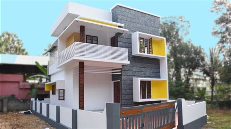 square feet  bedroom modern flat roof  floor house   cent land home pictures
