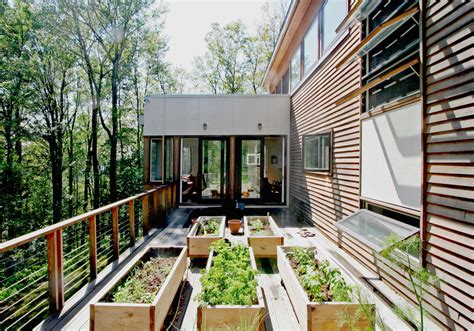 architecture modern deck plus awning windows and cable