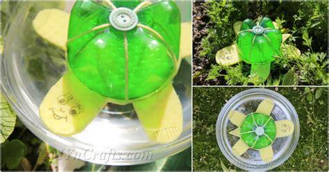 plastic bottle floating turtle diy crafts