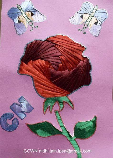 creative   world  paper crafting rose