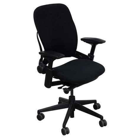 steelcase leap v2 used 3d mesh task chair black