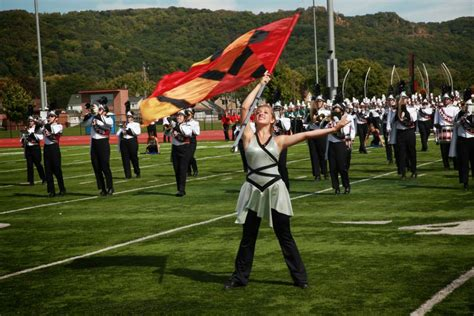 what is a color guard color guard screaming eagles marching band uw la crosse