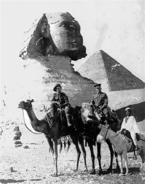 australian soldiers  camels  front   sphinx egyp