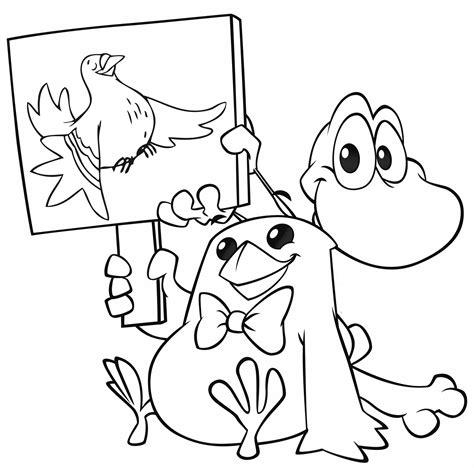 mini cuccioli da colorare cuccioli pio e senzanome mostrano un cartello della