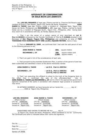 Calaméo - Affidavit of Confirmation of Sale with Lot