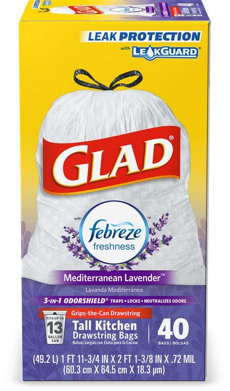 glad tall kitchen drawstring trash bags odorshield
