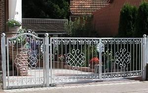 Gartentor Hoftor Tor Metall Schmiedeeisen Monaco GFT500