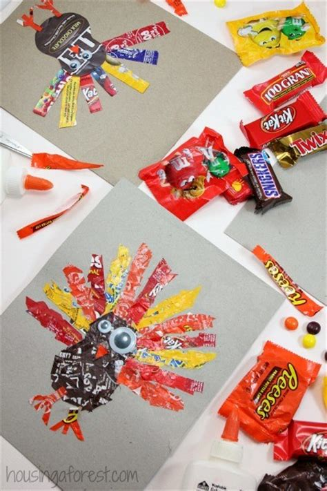 (especially dark chocolate, hint hint.) and now i can take my chocolate gifts to a whole new level by creating custom, personalized foil wrappers, thanks to craft attitude. Candy Wrapper Turkeys | Housing a Forest