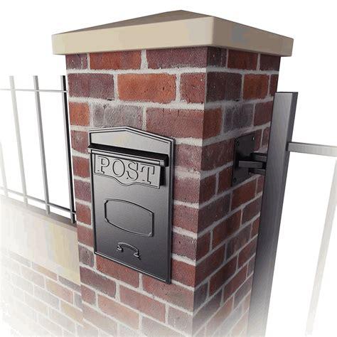 bloomsbury rear access column mounted mailbox
