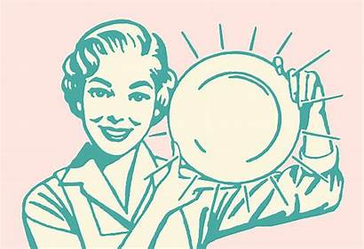 Dishes Clean Washing Dish Clipart Holding Woman