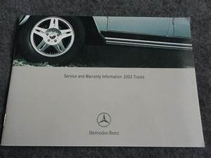 2003 Mercedes Ml500 Service And Warranty Owners Manual Supplement Ml 500