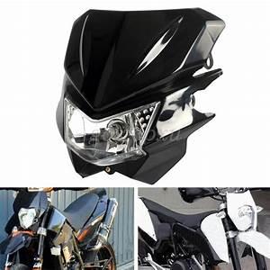 Universal Motorcycle Bike Streetfighter Street Fighter Hi  Lo Headlight Head Lamp