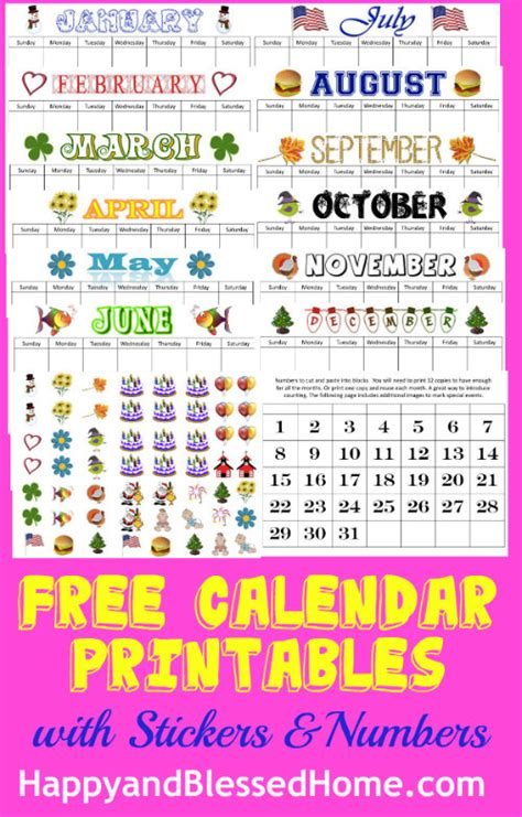 perpetual calendar printables happy blessed home