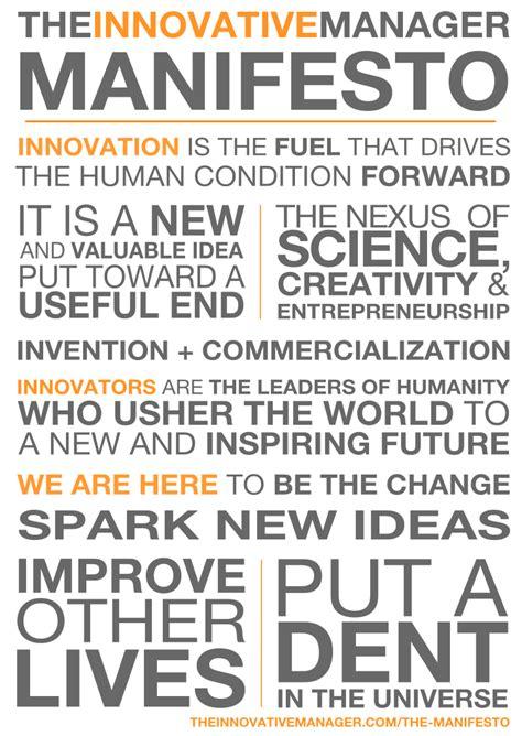 manifesto template the manifesto the innovative manager