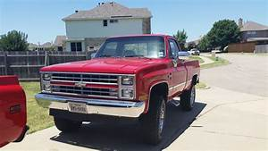 1985 Chevrolet K10 Silverado Swb For Sale Wylie  Texas