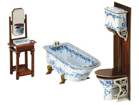 Furniture for Dolls BATHROOM Dollhouse Miniature Scale 1