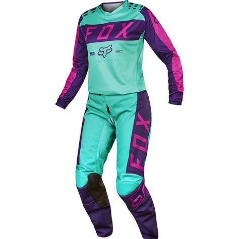 female motocross gear fox 2017 mx new 180 purple pink seafoam jersey pants