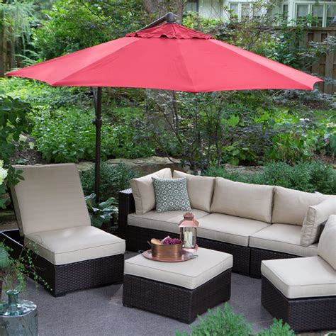 cantilever patio umbrellas treasure garden ft obravia cantilever octagon offset patio