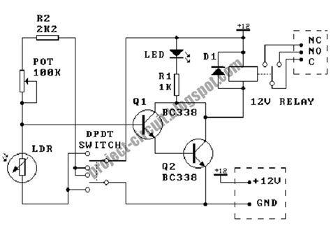 Electronics Technology Light Dependent Resistor Circuit
