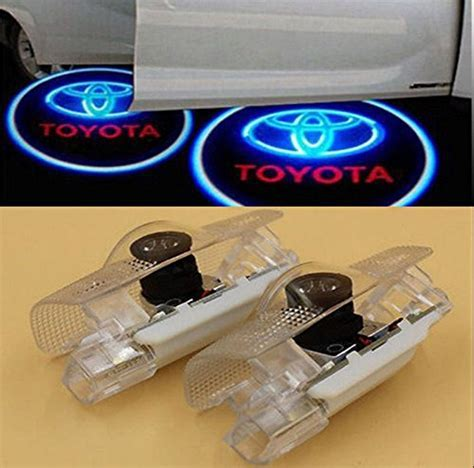 2 LED Door Step Courtesy Light Welcome Light Shadow Logo