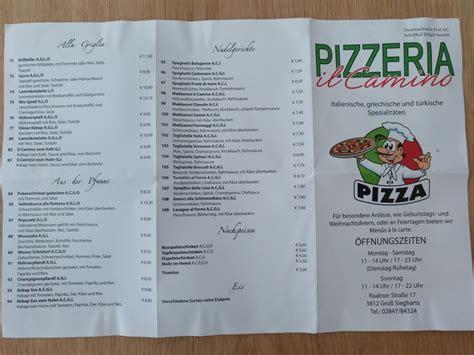 Il Camino Pizzeria by Il Camino Pizzeria Aus Gross Siegharts Speisekarte Mit