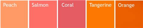 how to make the color coral salmon vs coral color