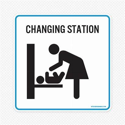 Changing Station Area Clipart Sign Nursery Restrooms
