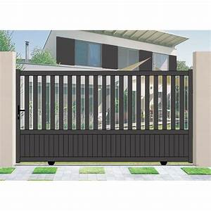 Portail Coulissant Droit Aluminium Habitat Pomerol