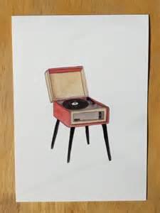 Vinyl Record Player Art