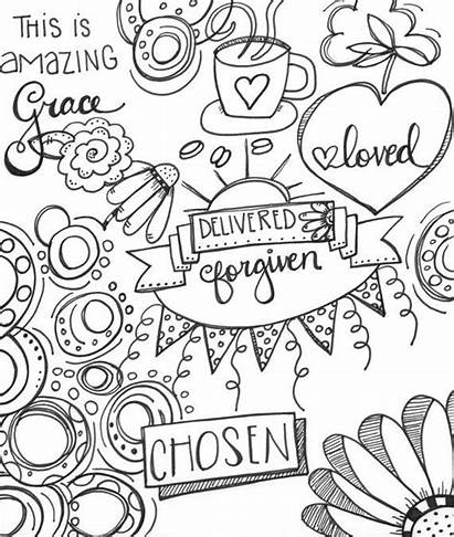 Coloring Pages Drawing Printable Grace Amazing Drawings