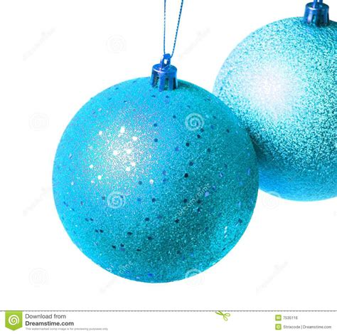 two blue christmas balls royalty free stock image image 7535116