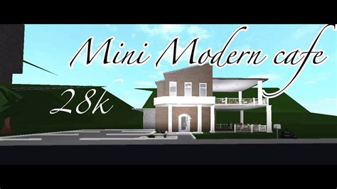 Bloxburg cafe picture id's (working 2018) hey guys today i'm showing you all of roblox bloxburg picture id's i could find thx for. Bloxburg: Mini modern cafe 28k - YouTube