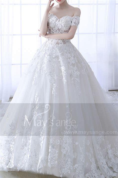 robe mariee dentelle 2018 robe de mariage bustier 2018 moderne dentelle et perles