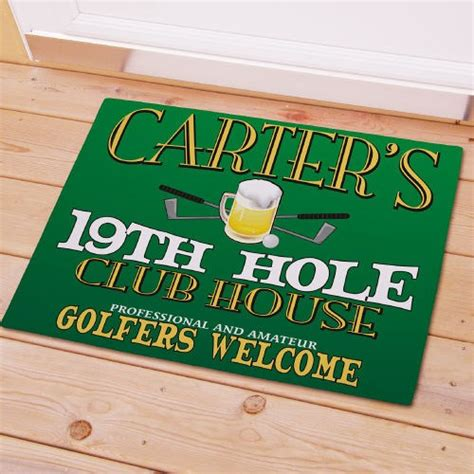golf doormat 19th personalized golf doormat giftsforyounow