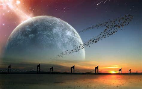 Planet Asteroids Ocean Bridge Wallpapers Planet