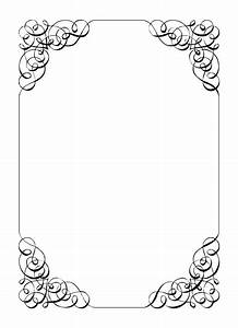 free vintage clip art images calligraphic frames and With wedding invitation paper clips