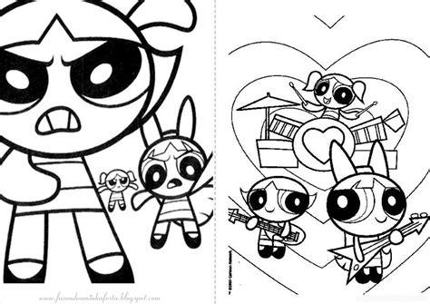 desenhos  colorir meninas super poderosas
