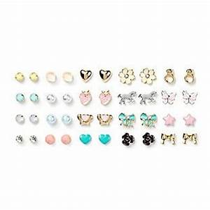 Claires Stud Earrings Set of 20 | Accessories | Pinterest ...
