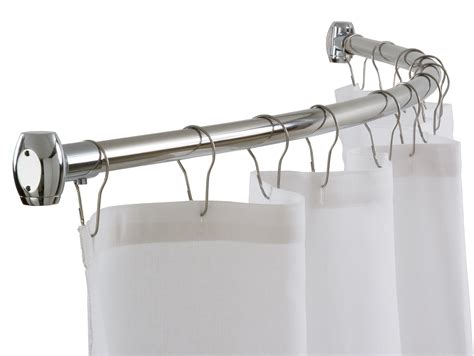 l shaped shower rod white curtain in stainless steel of rod with l shaped
