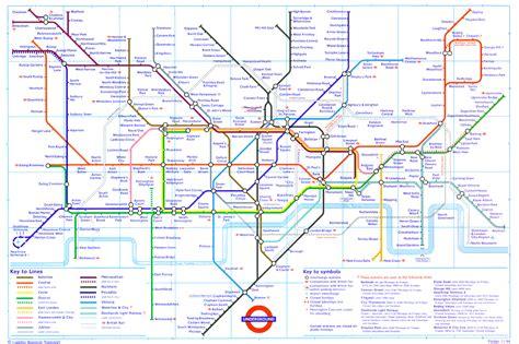 london tube underground map
