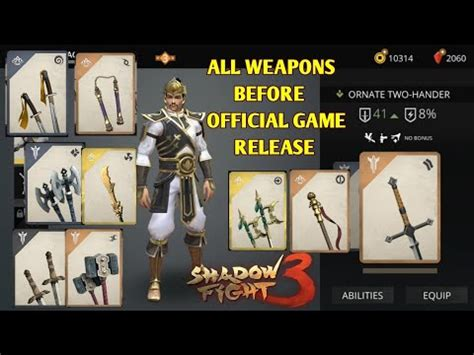 shadow fight 3 all weapons before official release