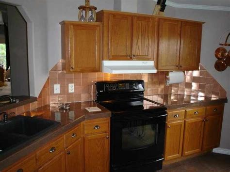 copper tile backsplash for kitchen 81 best images about project copper on copper 8338