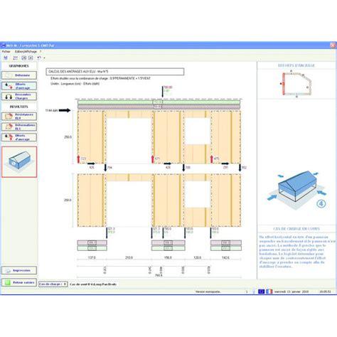 logiciel maison ossature bois logiciel de calcul pour maisons 224 ossature bois contrevent 233 es md bat