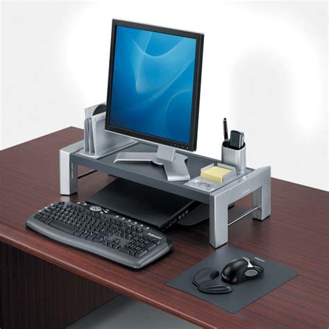 support moniteur bureau support pour écran d 39 ordinateur hauteur réglable vilacosy