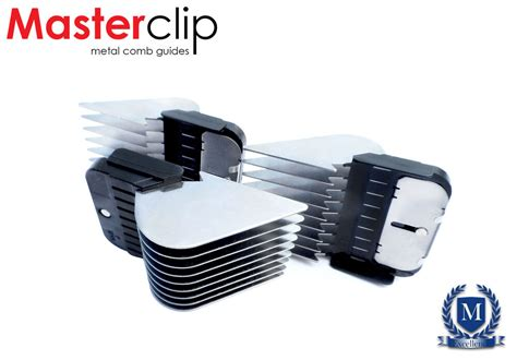 Long Cut Masterclip Metal Comb Guides Fits Oster, Andis