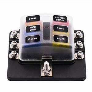 Imars 6 Way And 12 Fuse Box 12v 32v Circuit Standard Blade