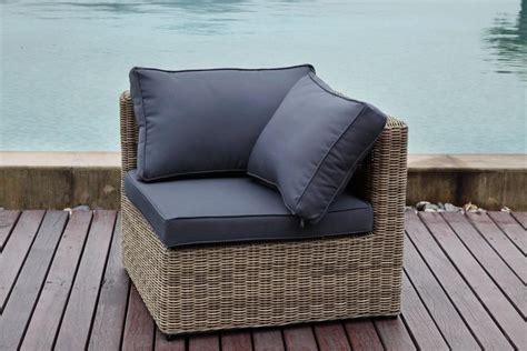 fauteuil d angle liberty osier salon de jardin en rsine tresse pas cher meuble de jardin