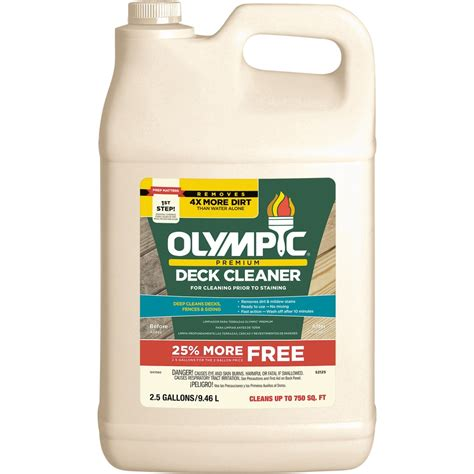 olympic  fl oz biodegradable deck cleaner  lowescom